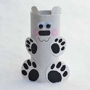 DIY Toilet Paper Roll Polar Bear