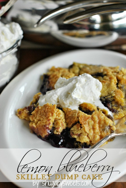 Lemon Blueberry Skillet Dump Cake full