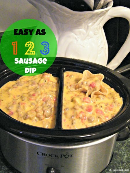 spicy sausage cheese dip master