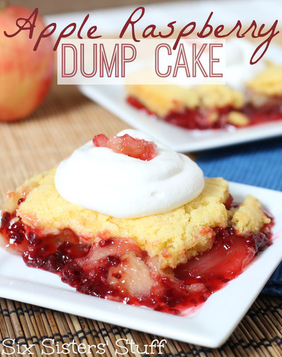 Amazing Apple Raspberry Dump Cake full