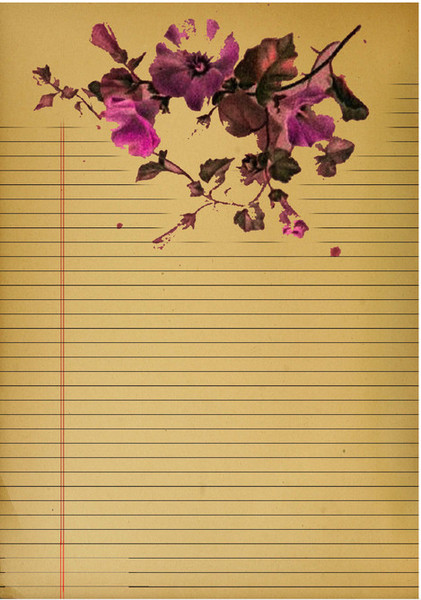 Lovely Vintage Floral Journal Pages IMR