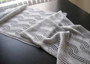 Winter Wavelets Shawl