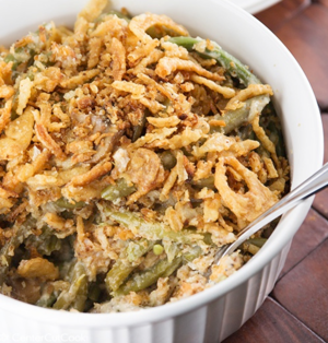 Cheesy Crunch Green Bean Casserole