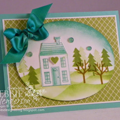 Home for the Holidays Card with Glue Dot Embellishment