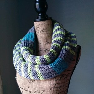 Neon Striped Infinity Scarf
