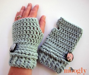 Wrist Wrapped Fingerless Gloves