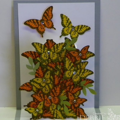Floating Butterflies Pop Up Card IMR