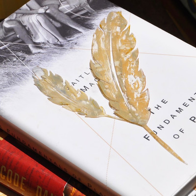 Paint Splatter Feather Bookmark IMR