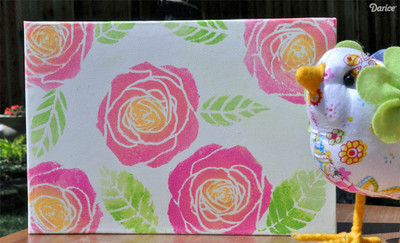 Lovely Stenciled Rose Book Cover IMRR
