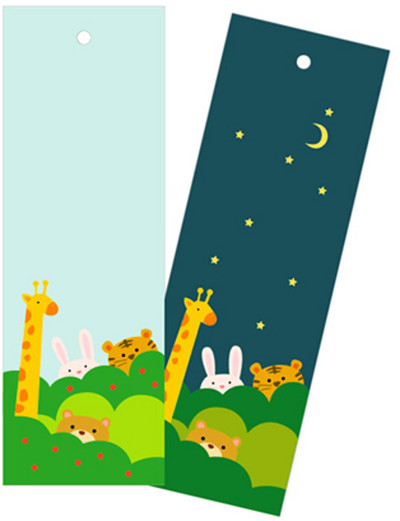Day and Night Animal Bookmarks IMR