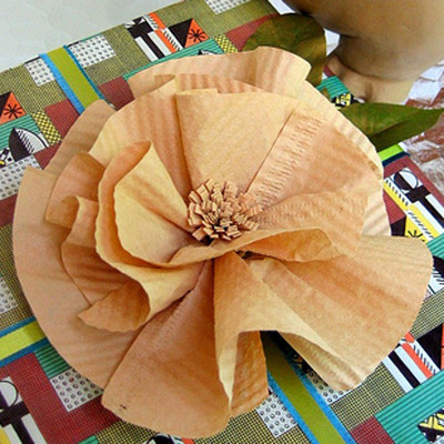 How to Make a Paper Flower with Coffee Filters IMR