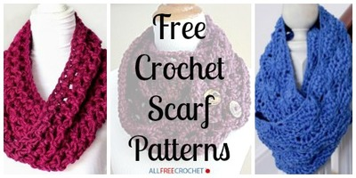 All Free Crochet Crochet Men s Skull Scarf Pattern : 34 Free Crochet Scarf Patterns AllFreeCrochet.com