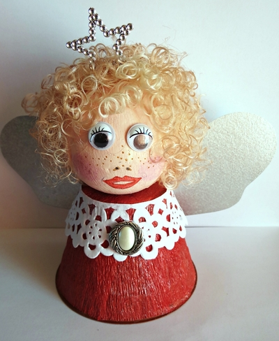 Little Flower Pot Christmas Angel7