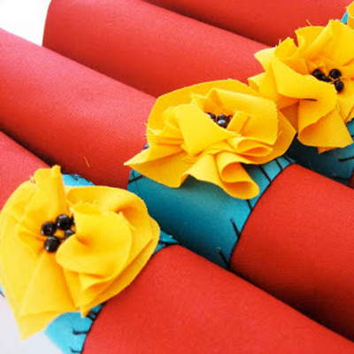 Upcycled Fall Napkin Rings IMR