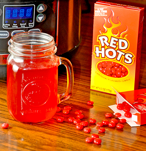 red hot cinnamon cider