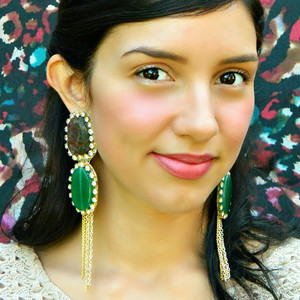Enchanting Emerald Evening Earrings