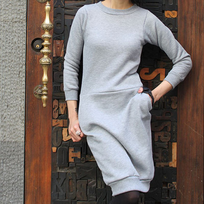 Cozy DIY Sweatshirt Dress IMR