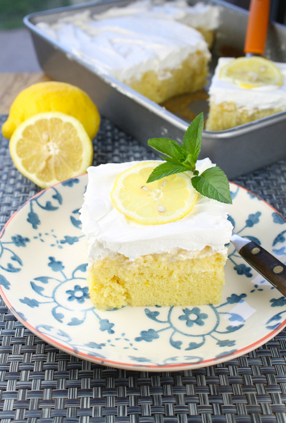 Lemon Pineapple Poke Cake