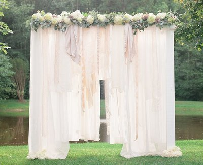 Breathtaking Bohemian Outdoor Wedding Altar