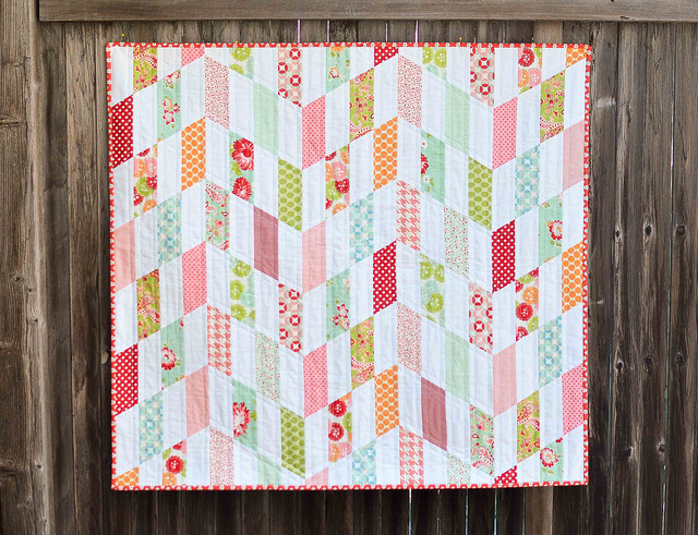 Striped Chevrons Baby Quilt Tutorial Favequilts Com
