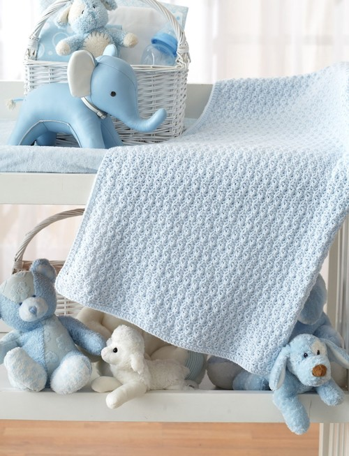 mustang Bundle in Blue Crochet Baby Blanket Pattern
