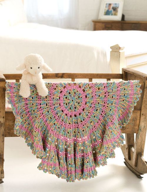 mustang Candy Coated Cable Crochet Baby Blanket