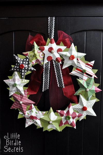 3D Star Wreath