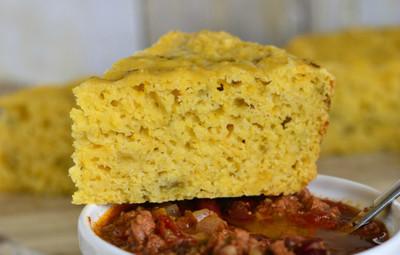 Green Chili Cheese Mexican Corn Bread
