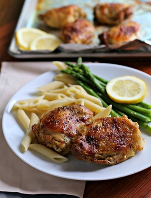 Tangy Lemon Pepper Chicken Thighs