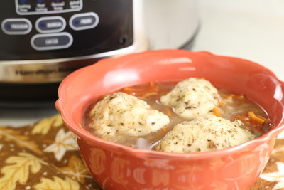 Slow Cooker Beef Dumpling Soup