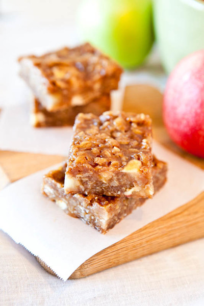 Loaded Caramel Apple Bars