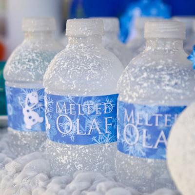 DIY Frozen-Inspired Melted Olaf Water Bottles