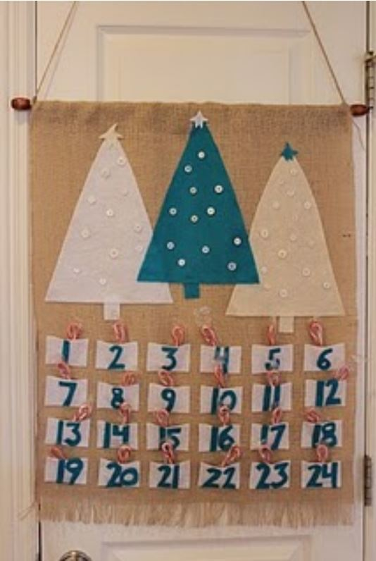 Diy Sewing Advent Calendar : Simple rustic no sew advent calendar allfreesewing