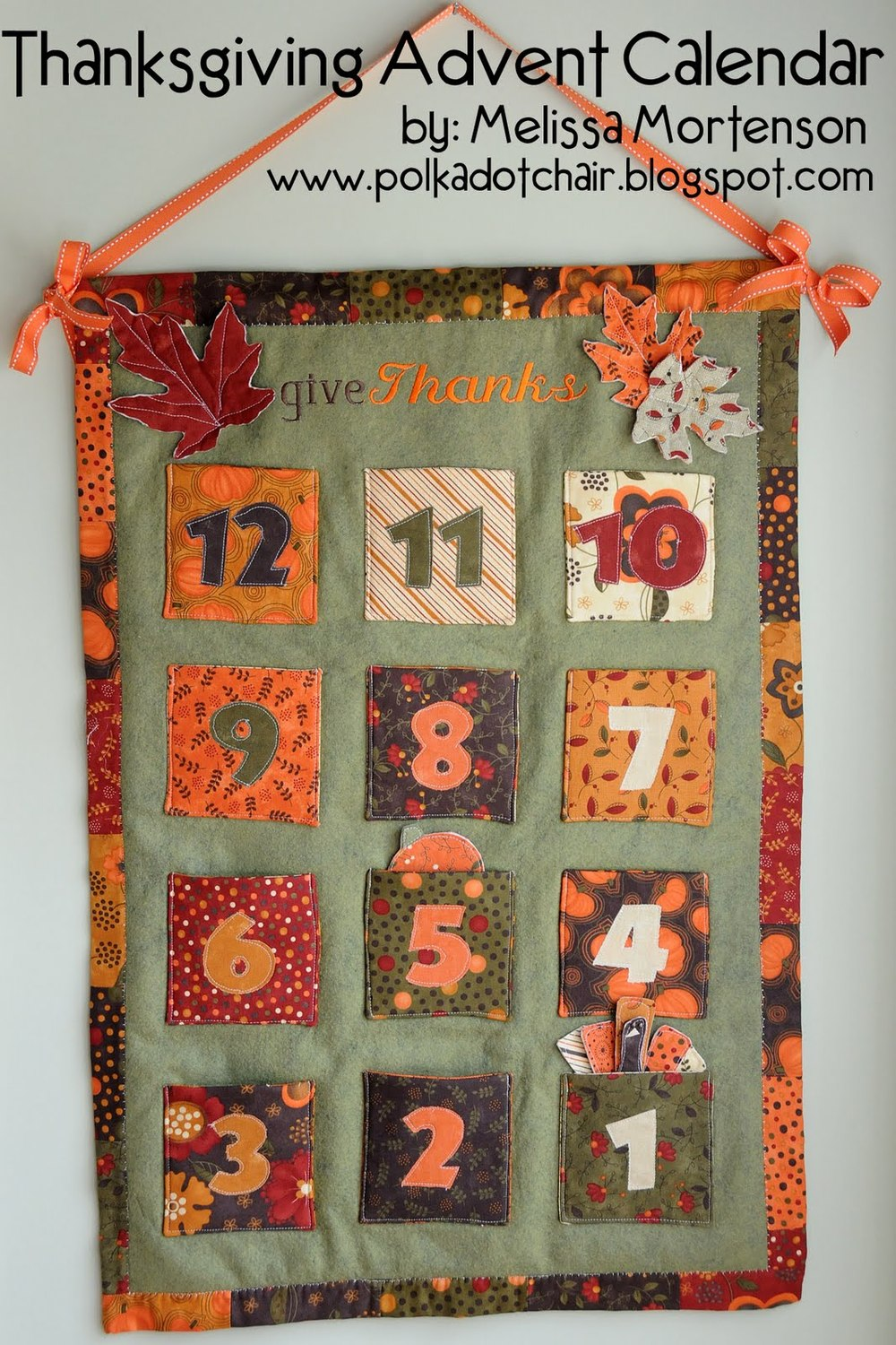 12 Days Of Thanksgiving Advent Calendar Allfreesewing Com
