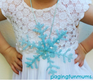 DIY Frozen Snowflake Necklace IMR