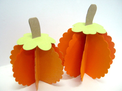 Scalloped Paper Pumpkins large