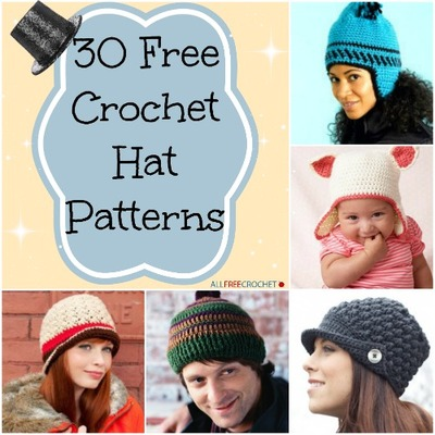 3d670b85fa1 30 Free Crochet Hat Patterns