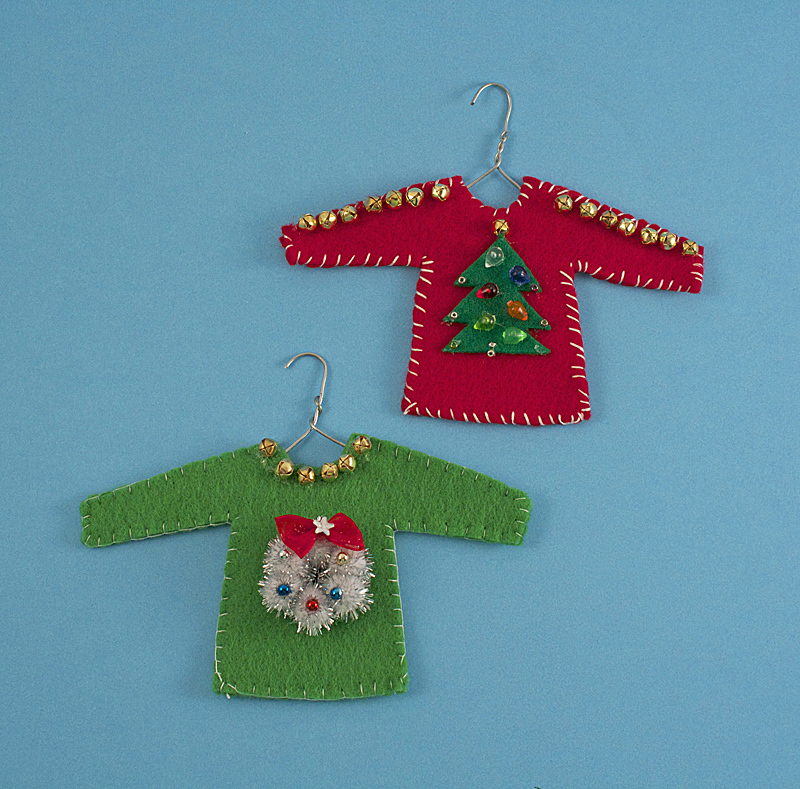 Diy Christmas Tree Sweater: DIY Ugly Sweater Ornament
