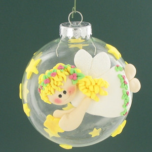 Angelic Clay-Embellished Ornament