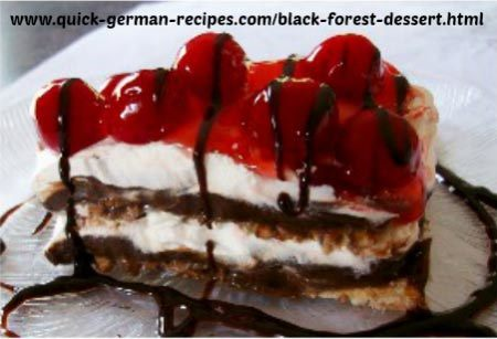 Quick Black Forest Dessert