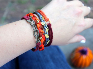 Pumpkin Spice Stacking Bracelets