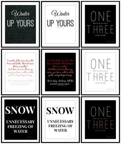 Winter Quotes Free Printable Wall Art