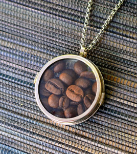 Coffee Lover's Locket Necklace