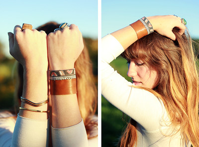 Southwestern DIY Leather Cuff