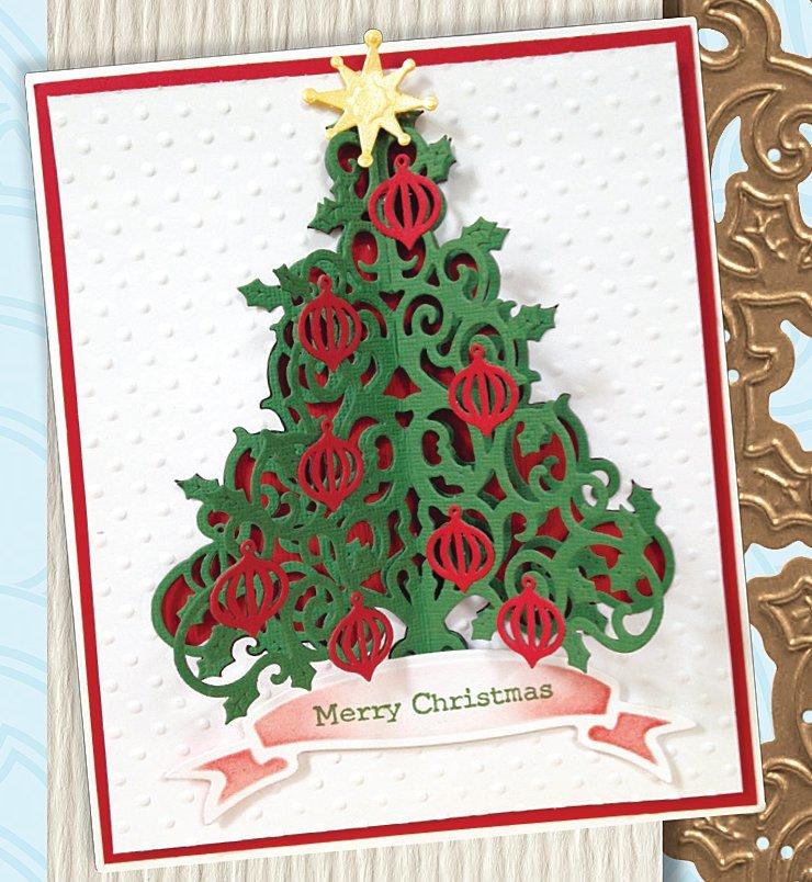 Christmas Toys Cards : O tannenbaum die cut christmas card favecrafts