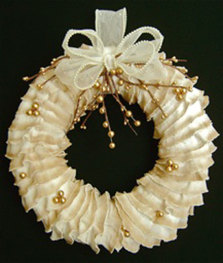 Ruffled Christmas Wreath