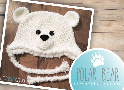 3cb0a42311a Polar Bear Baby Hat