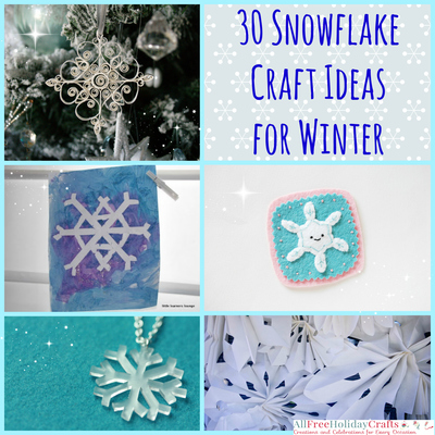 30 Snowflake Craft Ideas For Winter Allfreeholidaycrafts Com