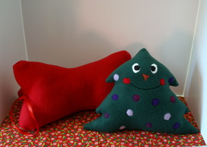 Fa La La Fleece Holiday Pillows