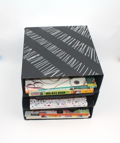 Paper Box Desk Organizer